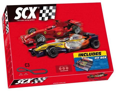 SCX 81030 Set Pista Formula 1 Pit Box
