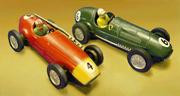 Due modellini Scalextric degli anni cinquanta